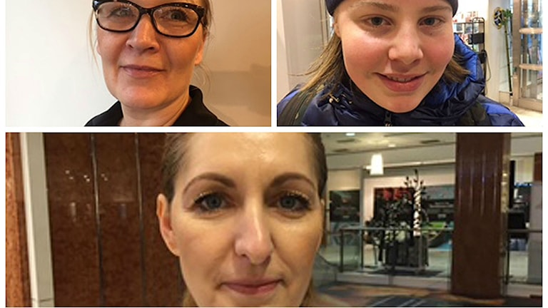 Marie-Louise, Tage och Biliana. Foto: Nadia Jebril/Sveriges Radio