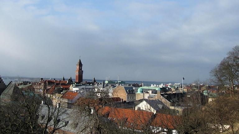 Vintervy över Helsingborg. Foto: Anna Hanspers/Sveriges Radio