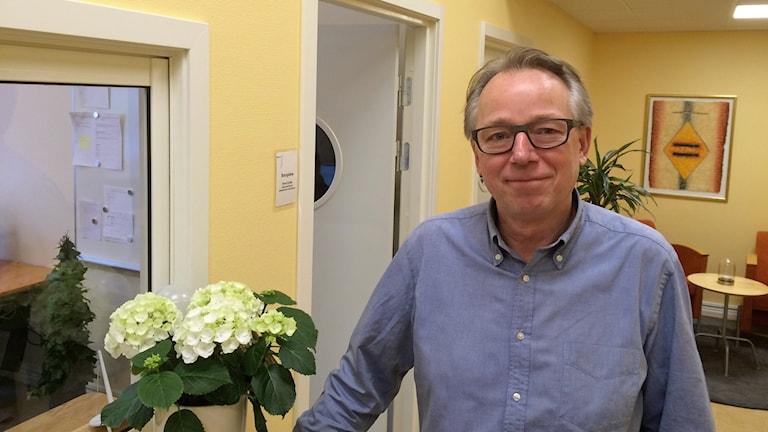 Mikael Öberg, vd för vårdbolaget Adaptus rehab i Kristianstad. Foto: Petra Haupt/Sveriges Radio.