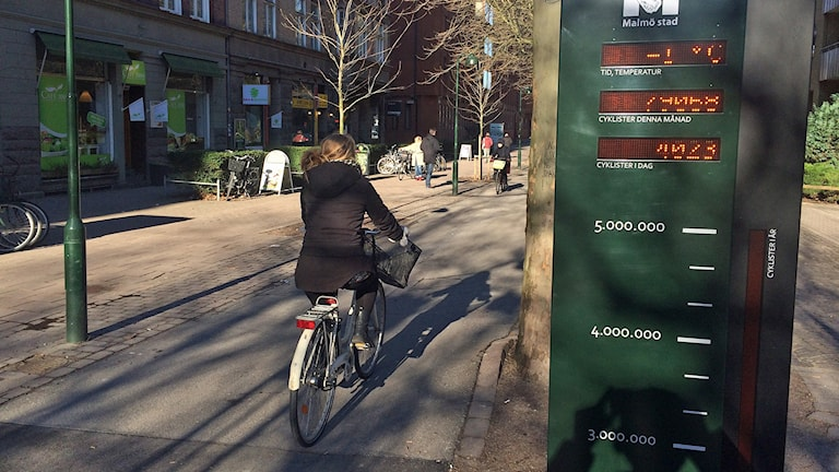22 procent av resorna i Malmö sker med cykel. Foto: Dimitri Lennartsson/Sveriges Radio.
