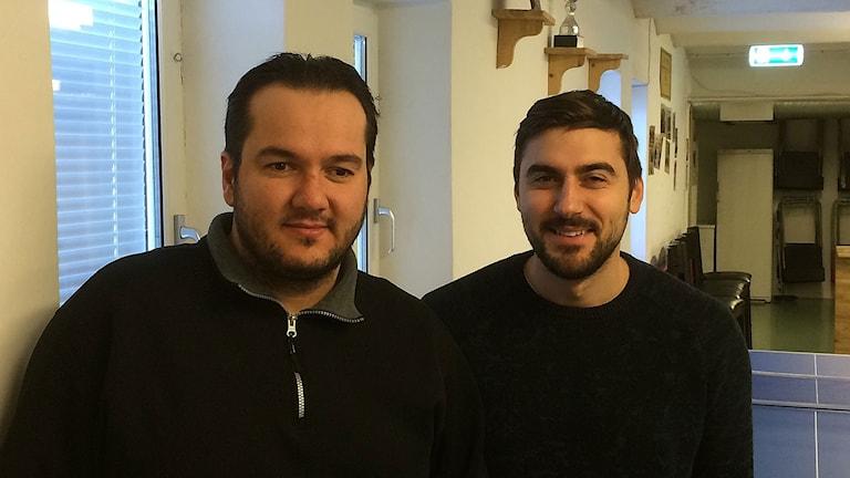 Bilal Karabudak och Tanyel Eren. Foto: Petra Haupt/Sveriges Radio