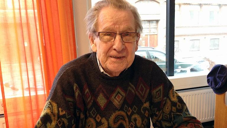 Aatos Kauranen kom till Skåne från Finland under andra världskriget och blev kvar. Foto: Anna-Lotta Nyström Hirvonen/Sveriges Radio.