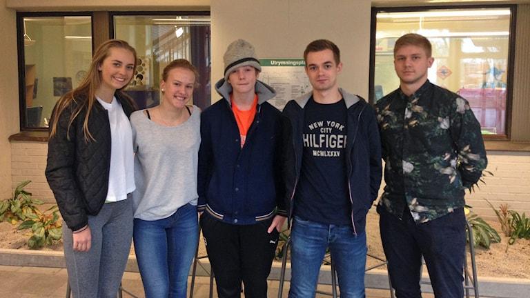 Frans vänner på Österportsskolan i Ystad.