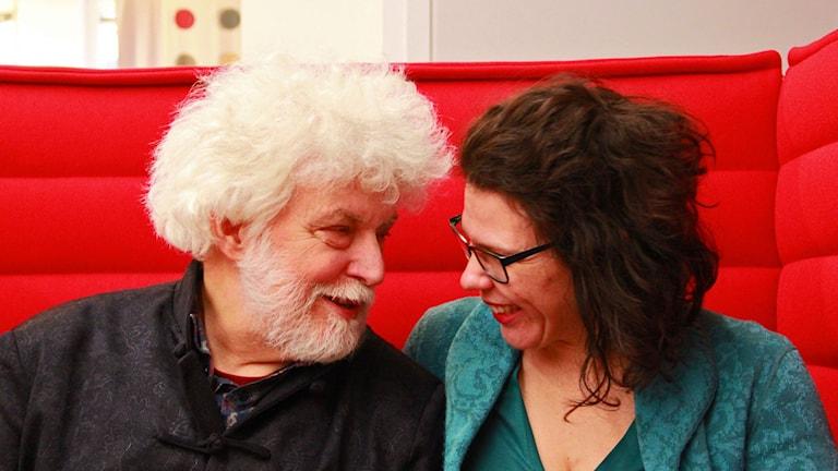 Jan Mark och Susanna Santrac. Foto: Felicia Frtihiof/Sveriges Radio