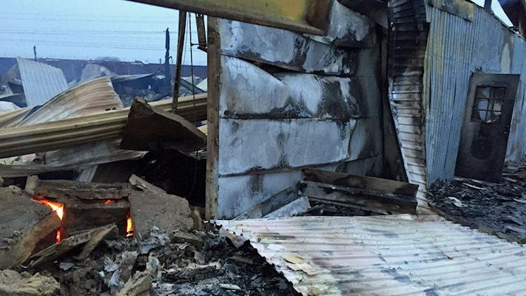 Kraftig brand i Arlöv