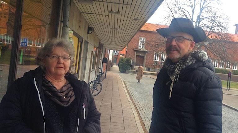 Ystadborna Ulla Hallkvist och Jan-Åke Wahlfrid. Foto: Felicia Frithiof/Sveriges Radio