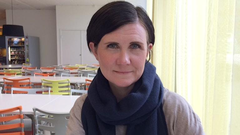 Märta Stenevi (MP), personalnämndens ordförande. Foto: Malin Thelin/Sveriges Radio