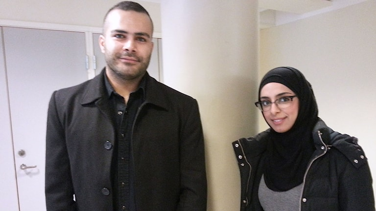Ahmad Serhan och Dima AlKawajh, ingenjörer på speeddating.