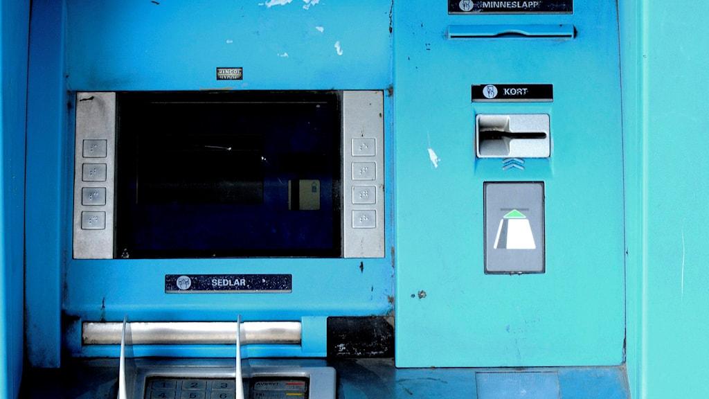 Bankomat. Foto: Ingvar Karmhed/TT.