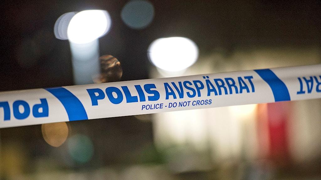 Polisens avspärrningsband