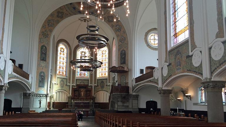 Johanneskyrkan i Malmö har sedan i höstas haft öppet nattetid Foto: Odd Clausen/Sveriges Radio