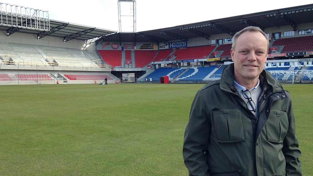 Hans Carell, administrativ chef för fotbollsverksamheten i Helsingborgs IF. Foto: Andreas Örwall-Lovén/Sveriges Radio