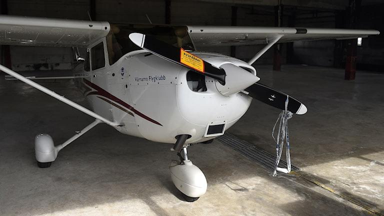 Narkotikan transporterades med det här sportflygplanet. Foto: Björn Lindgren/TT