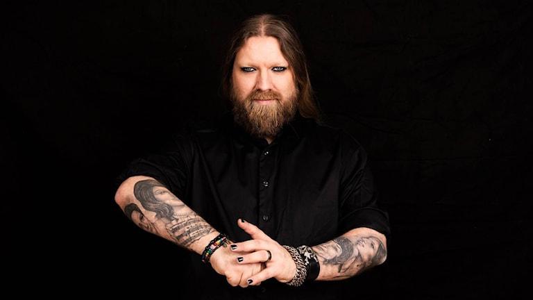Rickard Söderberg, operasångare från Malmö som blir programledare i P2s nya program Operahuset. Foto: Mattias Ahlm/Sveriges Radio.