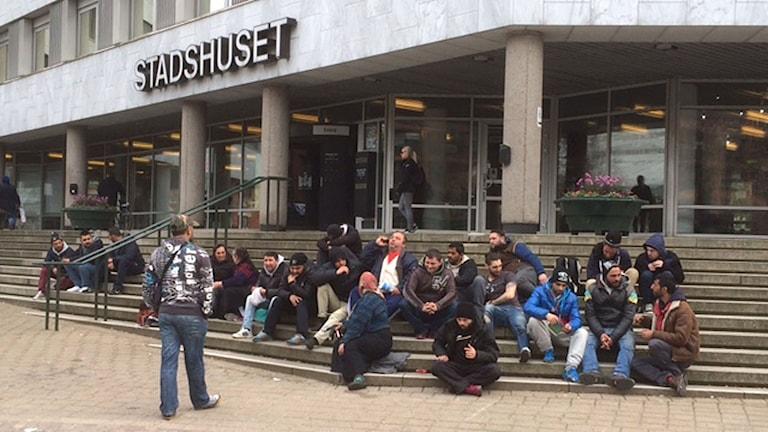 EU-migranter vid Stadshuset