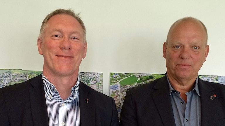 Christer Pålsson kommunchef i Bjuv och Anders Månsson, kommunalråd