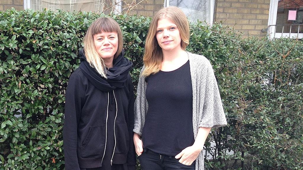 Sara Wåhlin och Rebecka Eriksson.