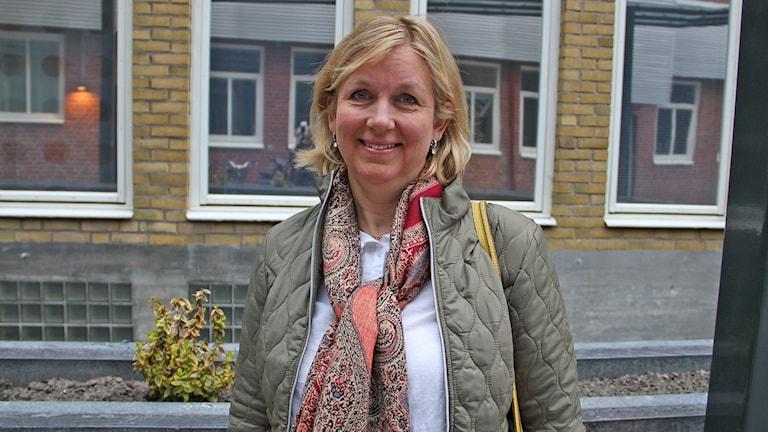 Elisabeth Ellström, veterinär och vd för djurklinik i Helsingborg är finalist i Djurklinik 2016. Foto: Cecilia Ekman/Sveriges Radio.