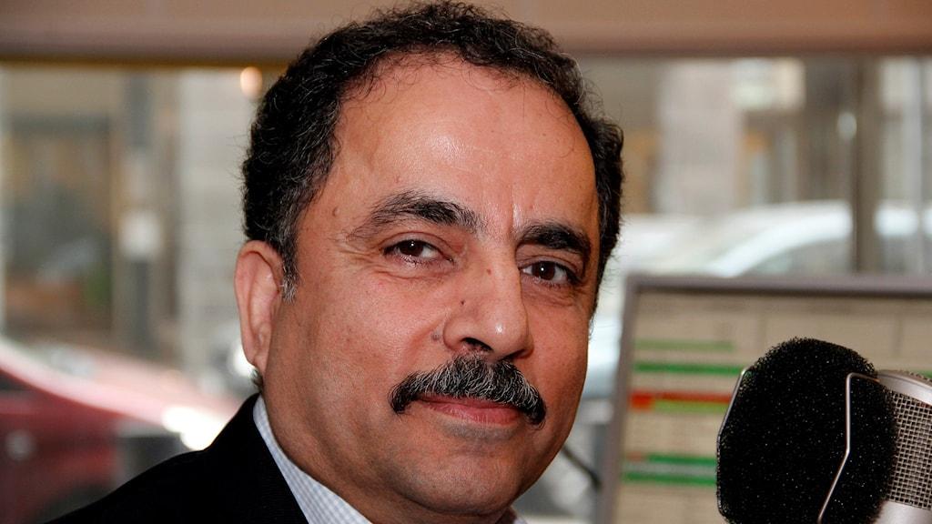 Azad Amin var dödsdömd i Saddam Husseins Irak och arbetar för ett fritt Kurdistan. Foto: Hans Zillén/Sveriges Radio Malmö.