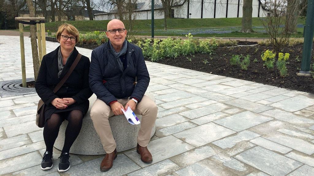 Anna Bengtsson, Lundabo och Lars Brobeck, parkintendent