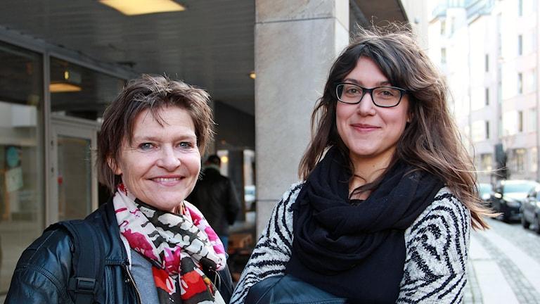 Hilde Selander och Afsaneh Larsson