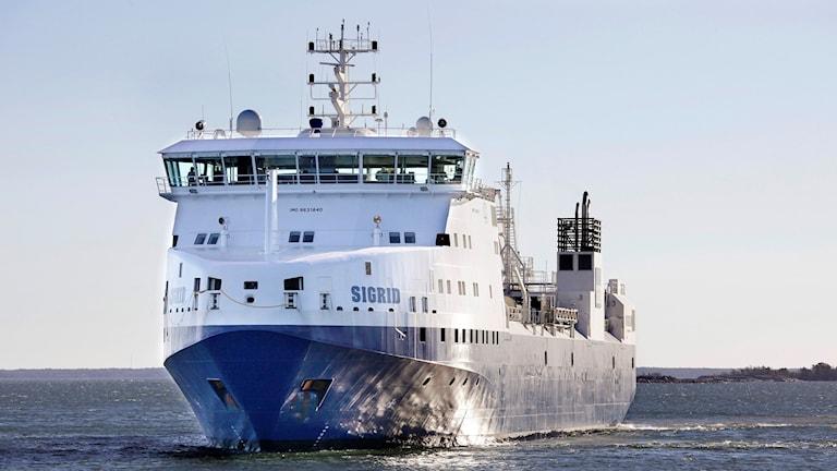 Kärnavfallsfartyget Sigrid Foto: Lasse Modin/Svensk kärnbränslehantering
