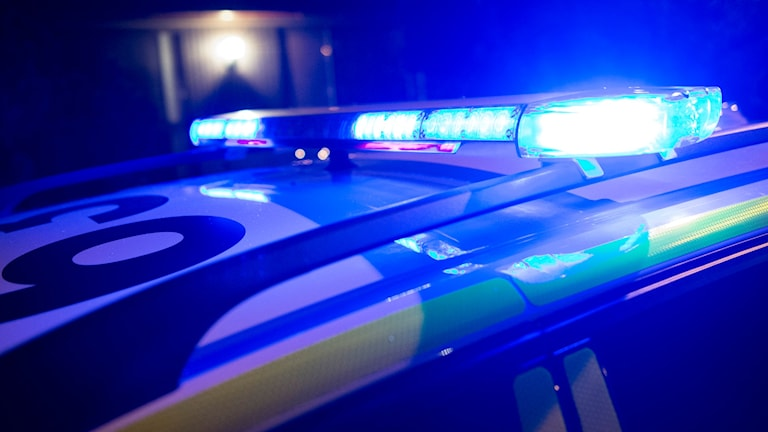 Polisbil med blåljus. Foto: Johan Nilsson/TT