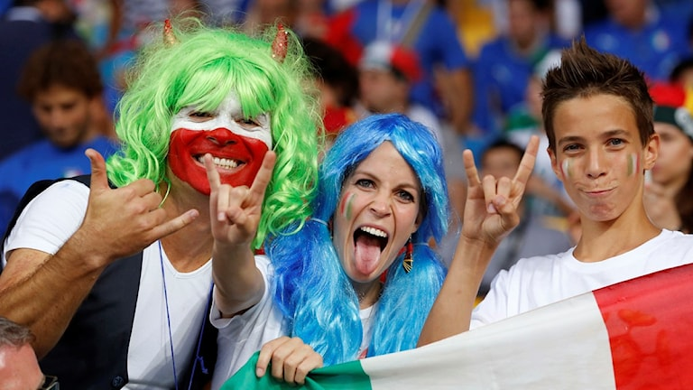 Italienska fotbollsfans. Foto: Antonio Calanni/TT.