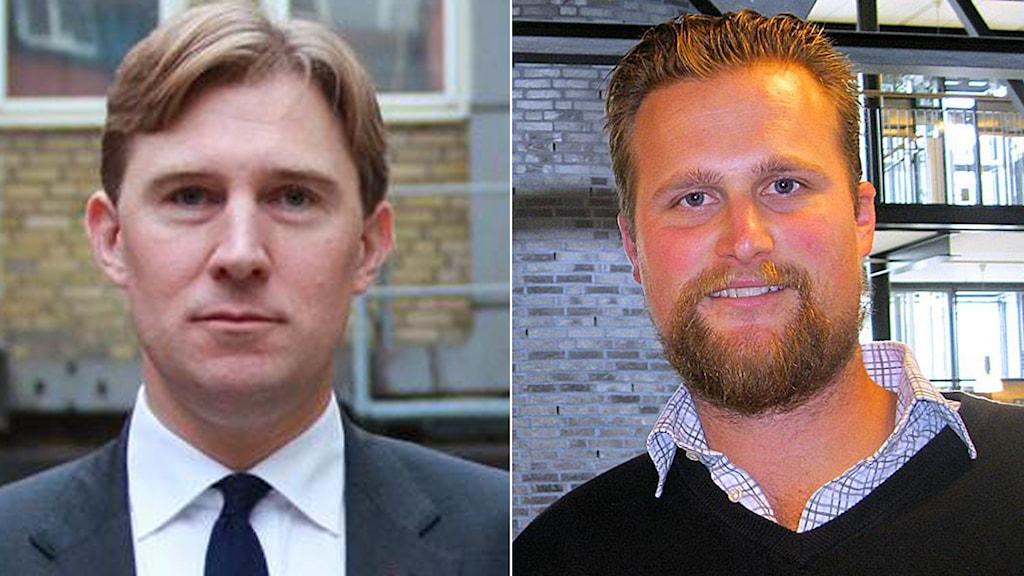 Henrik Fritzon (S), regionstyrelsens ordförande och Carl Johan Sonesson (M), regionråd