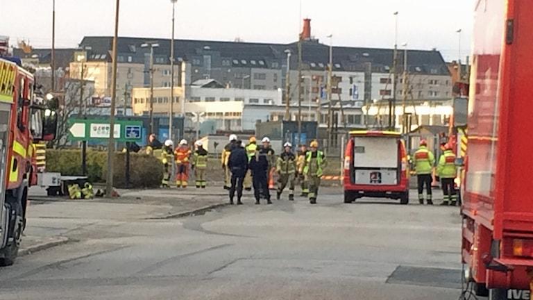 Kem-insats vid godsbandgården i Malmö. Foto: Martina Greife/ Sveriges Radio