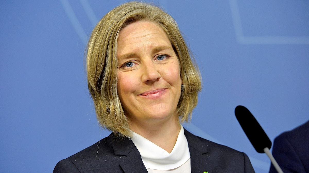 Karolina Skog (MP), blir ny miljöminister i Stefan Löfvens nya regering. Foto: Jonas Ekströmer/TT