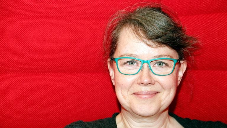 Marianne Gullberg, forskare i gester och språkinlärning vid Lunds universitet. Foto: Hans Zillén/Sveriges Radio