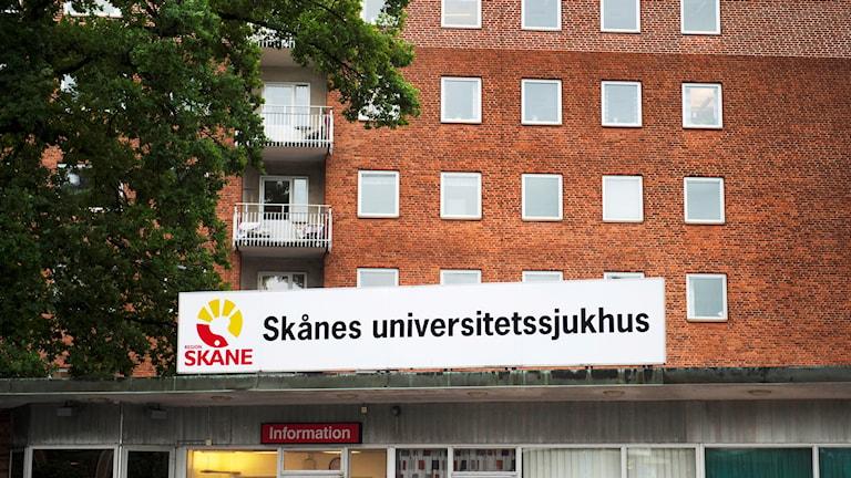 Skånes universitetssjukhus i Lund. Foto: Emil Langvad/TT