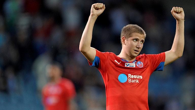 Darijan Bojanic, fotbollsspelare som återvänder till Helsingborgs IF. Foto: Björn Lindgren/TT.
