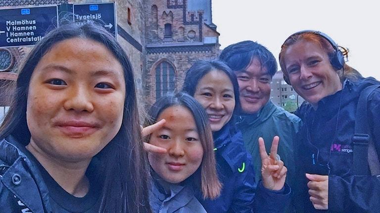 Koreansk familj Kockumskranen