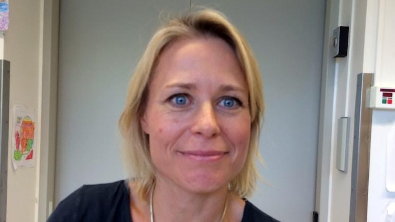 Kajsa Järvholm, psykolog vid Skånes Universitetssjukhus som studerat hur det gått för unga som opererats för fetma. Foto: Odd Clausen/Sveriges Radio.