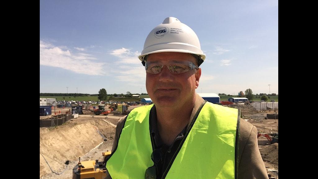 Kent Hedin, bygggchef för ESS, Lund. Foto: Daniel Persson / Sveriges Radio
