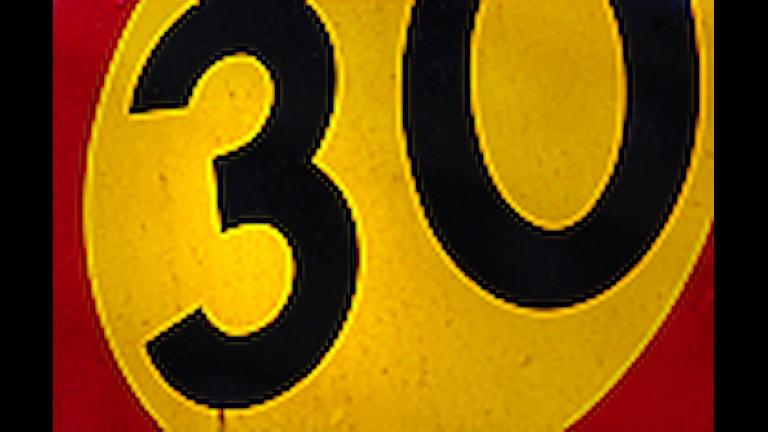 30-skylt Foto: Marcus Lindblad/SCANPIX