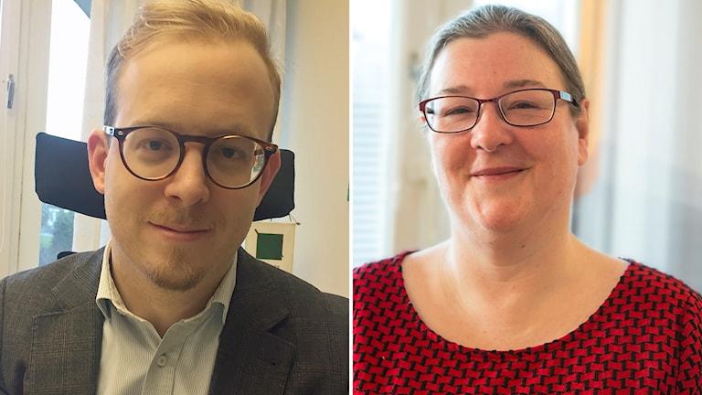 Robin Holmberg (M), kommunalråd, och Åsa Larsson, (S), kommunstyrelsens ordförande.