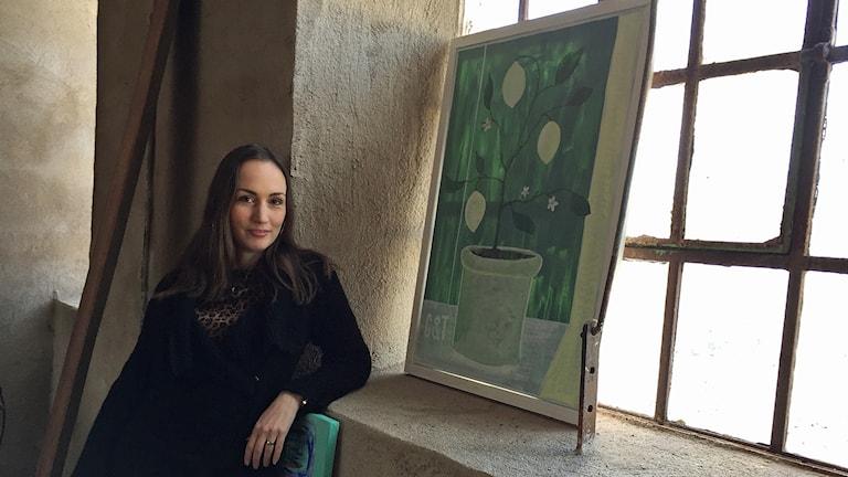 Gina Cinnamoni, konstnär och initiativtagare till nya Skånes fria konstrunda. Foto: Anna Hanspers/Sveriges Radio.