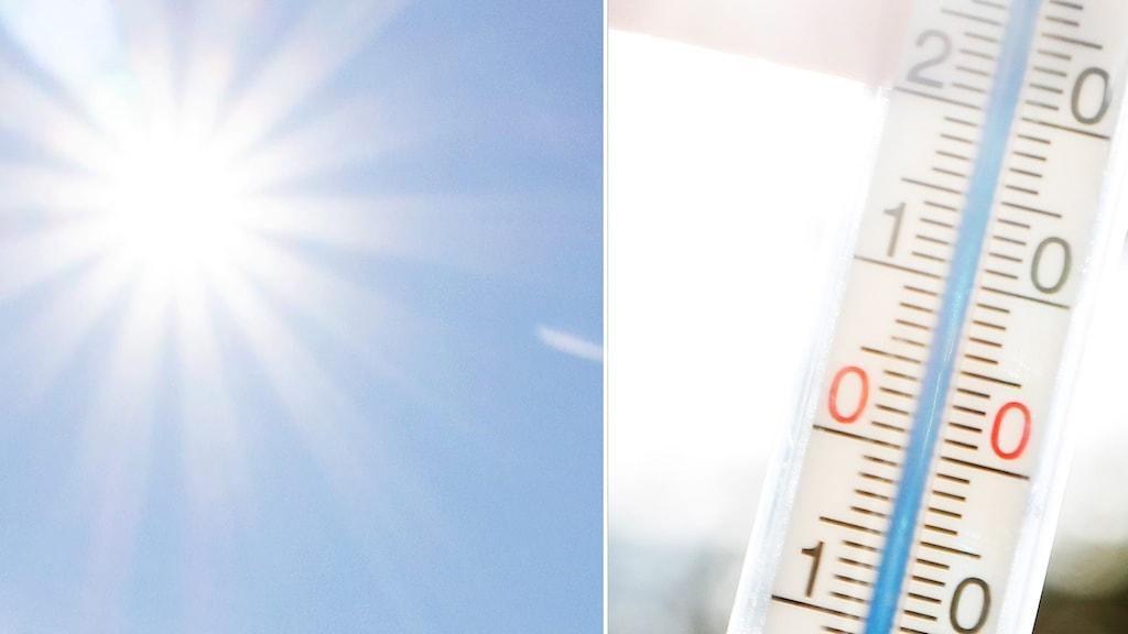 solen, termometer