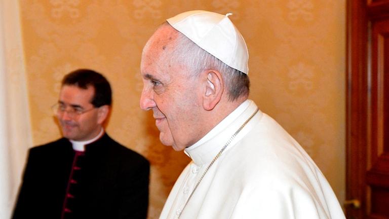 Påve Franciscus som kommer till Malmö och Lund.