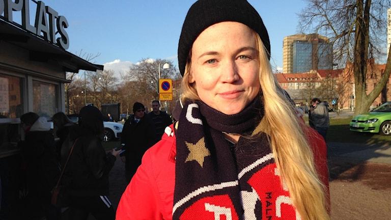 Erika Rosén var taggad inför matchen