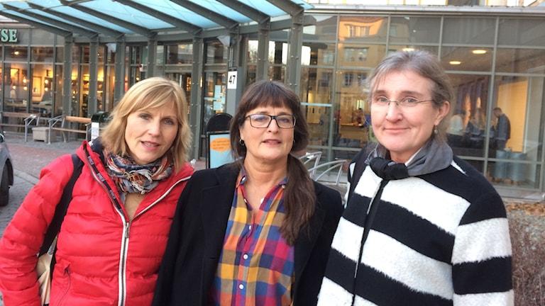 Barnmorskorna Lena Olsson, Helena Andersén och Anna Hansson i Malmö. Foto: Petra Haupt/Sveriges Radio