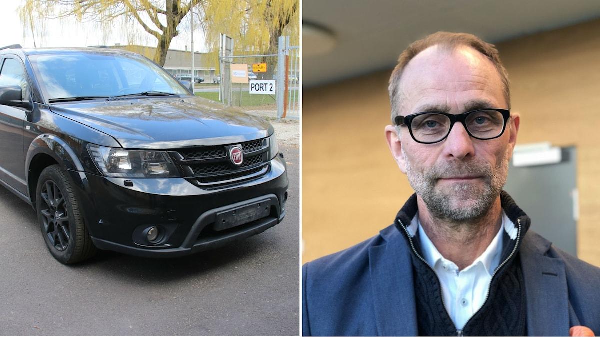 Den misstänka flyktbilen, åklagare Lars Morand