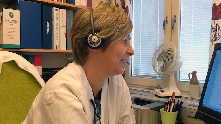 Lena Persson, diabetessköterska på vårdcentralen Linero-Östra Torn i Lund. Foto: Petra Haupt/Sveriges Radio.