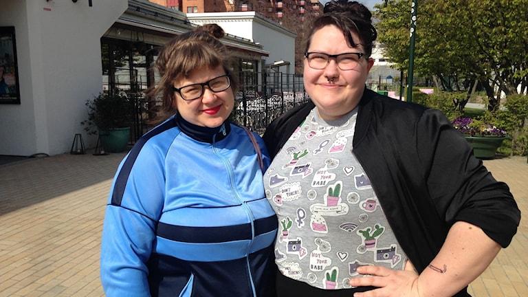 Hannah Kindbom och Caroline Bjartling från Malmö Fat Front.