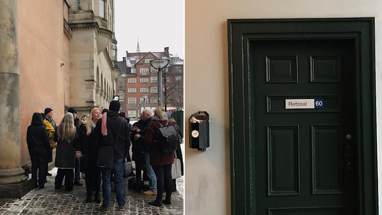 Ett stort medieuppbåd är på plats i Köpenhamns byrett.