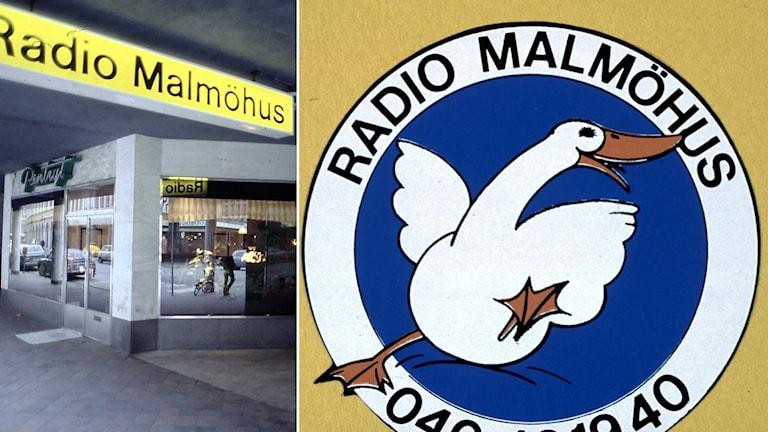 Radio Malmöhus gamla entré och logga.