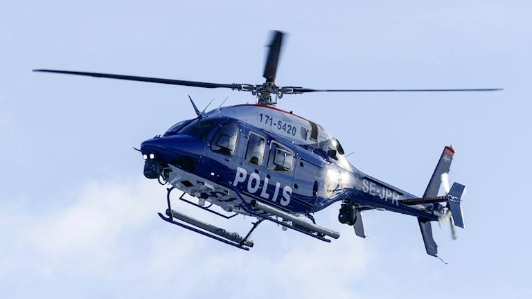 Polisens helikopter i Malmö